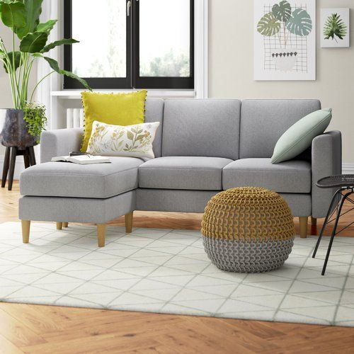 Zipcode Design Allisonville Reversible Corner Sofa In 2020 Corner Sofa Corner Sofa Pillows Modular Corner Sofa