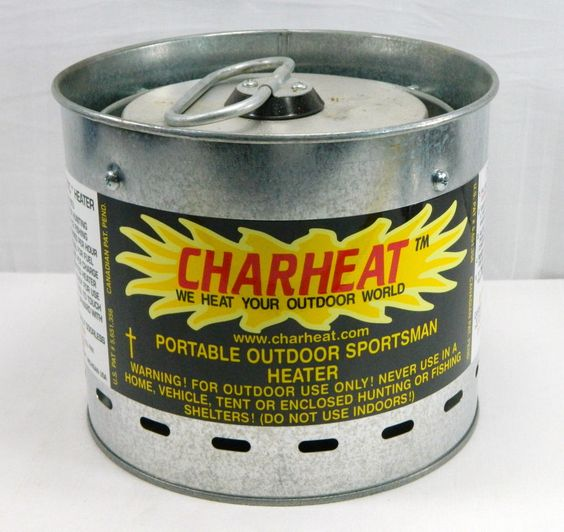 charheat portable outdoor sportsmans kinetic heater