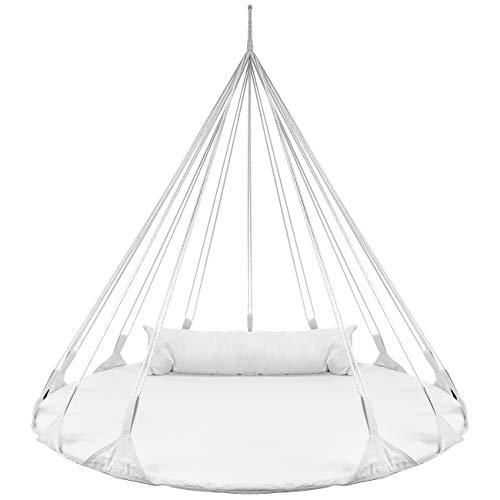 Sorbus Saucer Style Double Hammock Daybed Lounger White