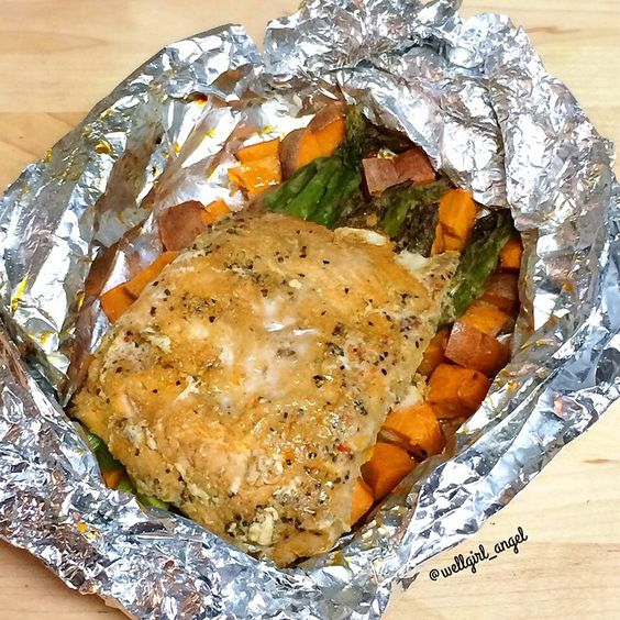 - Foil Salmon. Plus, since you're cooking your meal in a foil packet ...