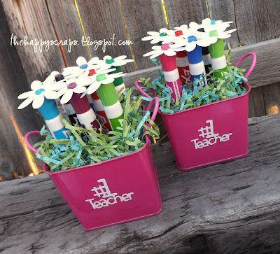Dry Erase Marker Bouquet for teachers