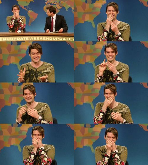 When Bill Hader breaks character... you KNOW THAT SHIT IS FUNNY!