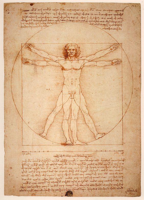 Uomo Vitruviano - Goldener Schnitt – Wikipedia