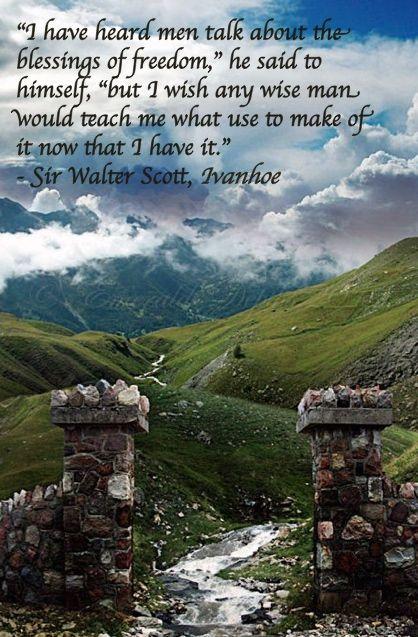 Sir Walter Scott, Ivanhoe #bookquotes #ivanhoe