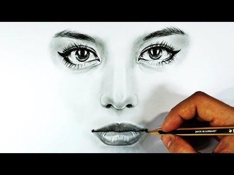 Cómo Dibujar Ojos Nariz Y Labios Realistas Con Lápiz De Grafito Boceto Y Sombreado Paso A Paso Youtu Dibujos De Ojos Como Dibujar Ojos Dibujos De Labios