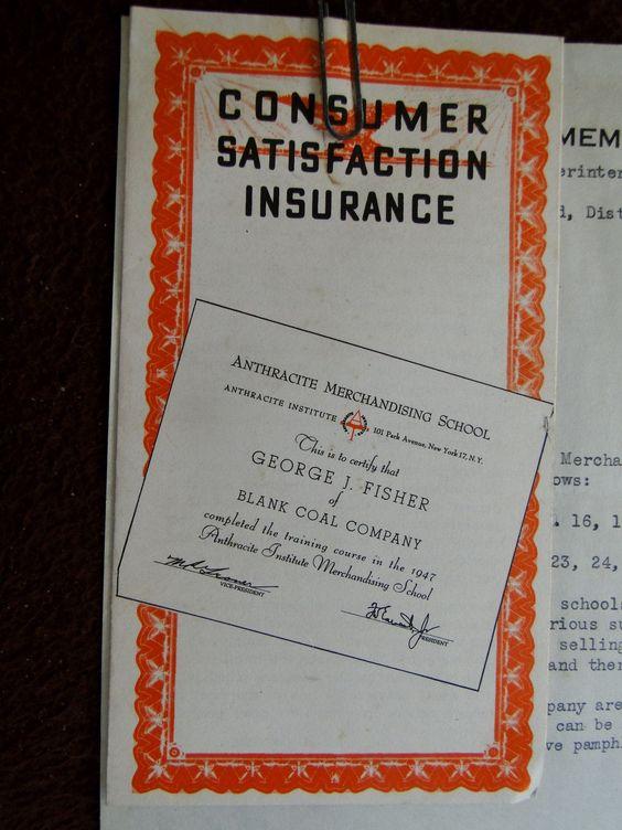 1947 Brochure Letter Anthracite Merchandising School In