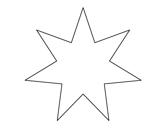 Point Star Template Seven-pointed star pattern . use the printable ...