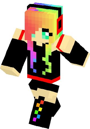 Emo rainbow girl skin minecraft skins girls skins pinterest emo rainbow girl skin minecraft skins girls skins pinterest minecraft skins rainbows and minecraft anime sciox Choice Image