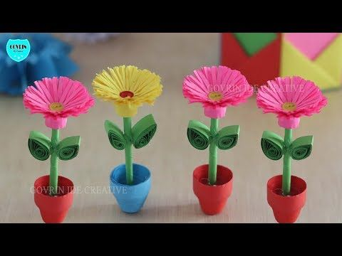 How To Make 3d Flower Pot With Paper Making Flower Step By Step