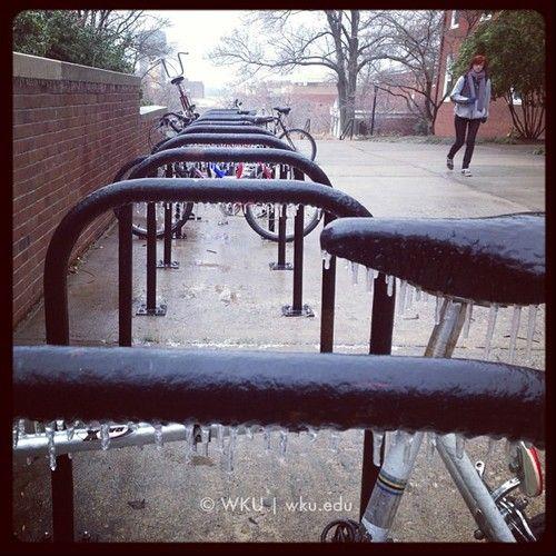 Icy day on campus. #WKU (at Bates Runner Hall)