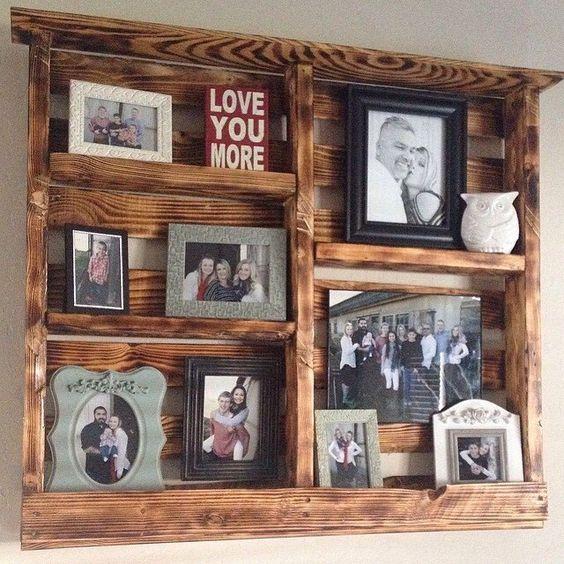 Picture Pallet Shelf, Decorative Pallet Shelf by PalletCreationsbyGT on Etsy https://www.etsy.com/listing/185795419/picture-pallet-shelf-decorative-pallet
