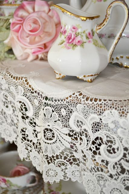 florals and lace