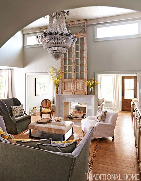 Rustic Luxe Living Room Home