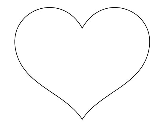 Printable Full Page Large Heart Pattern. Use The Pattern