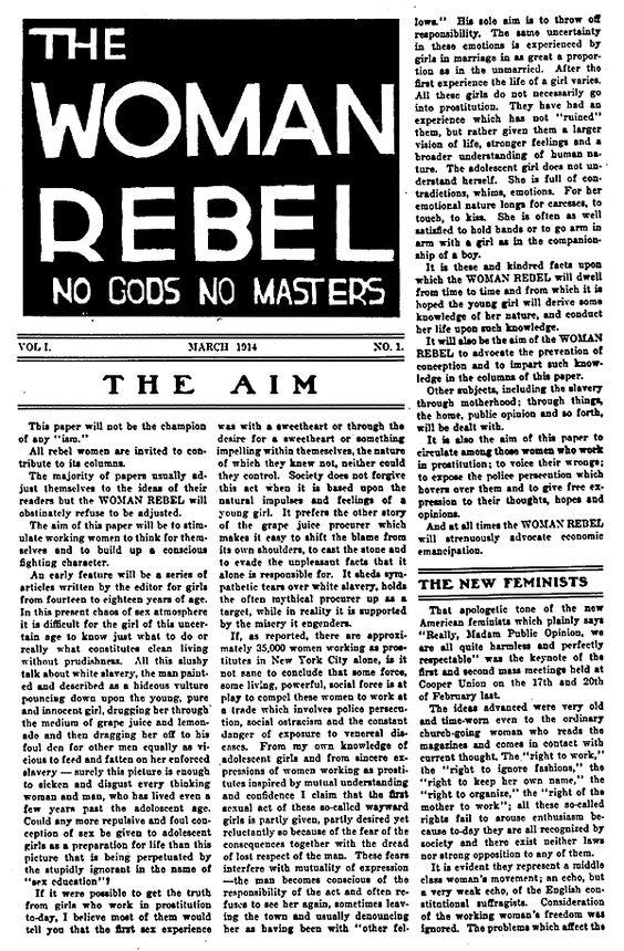 La mujer rebelde, Margaret Sanger (1879-1966)