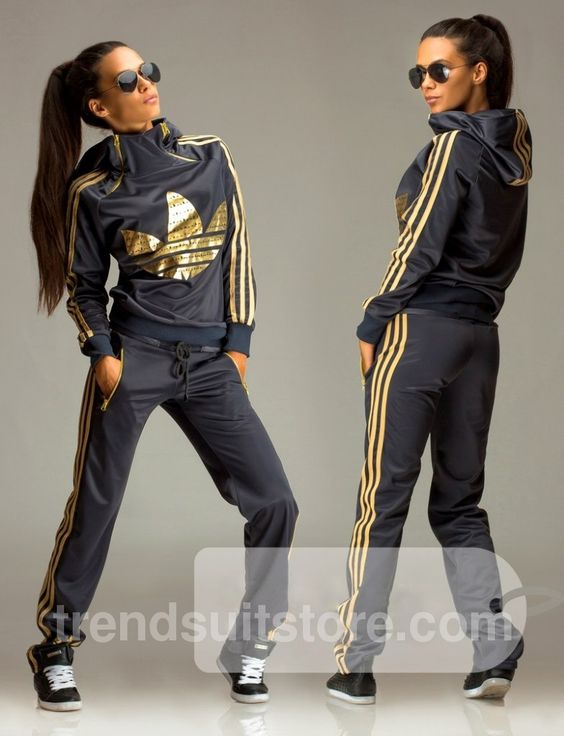 Article OT00020 #zip #hood #tracksuit Order of this product only by wholesale catalog at our website. Stylish womens gold print hooded zip grey tracksuit.