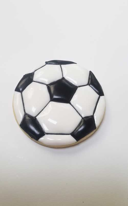 Soccer Ball Cookies Template Soccer Cookies Soccer Ball Sugar Cookies Decorated