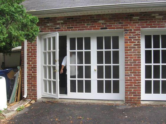 Garage Conversion Brick Exterior Affordable Garage Door Glass With One Swing Door And