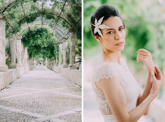 Hochzeit auf Mallorca #Brautkleid #Boudoir #ladiesandlord #brautportrait #brautfotografin #kopfschmuck