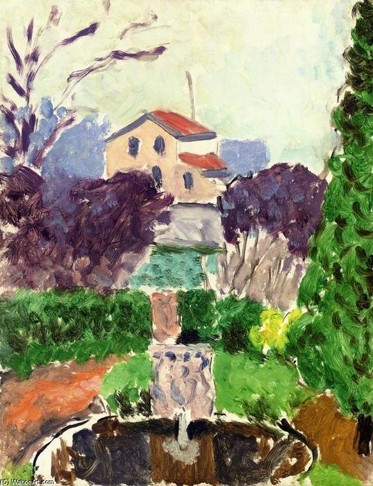 """""""O jardim do artista em Issy les Moulineaux"""", óleo sobre tela por Henri Matisse (1869-1954, France)"""