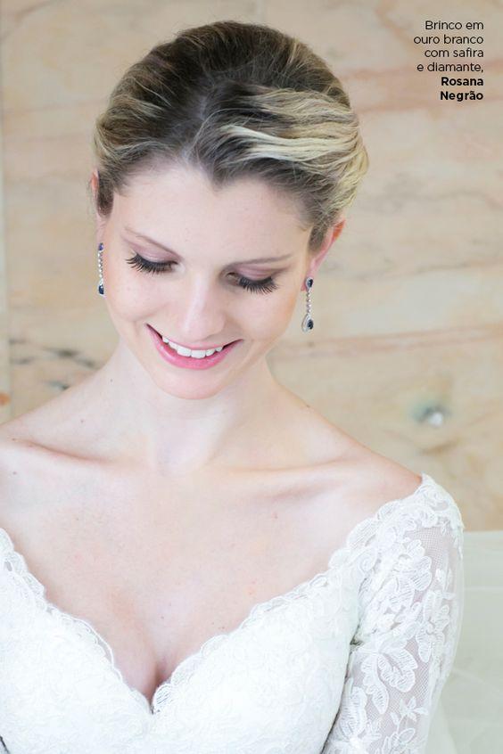 Brinco de Noiva com safiras e diamantes - Rosana Negrão.   Foto Giselly Gonçalves.