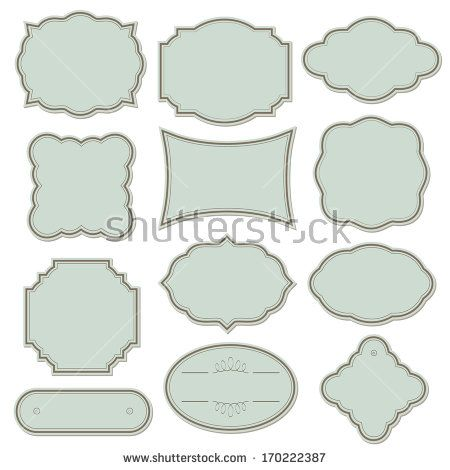 Vintage frame set isolated on white. Raster copy.