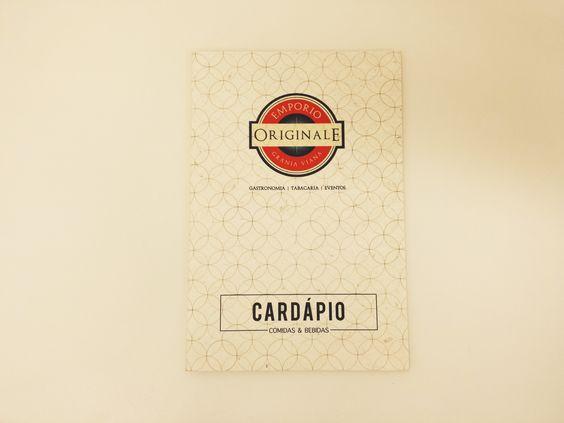 Cardápio de bistrô - Emporio Originale. Capa.