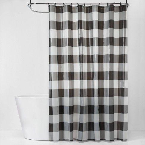 Buffalo Plaid Shower Curtain Bundle Black White Room Essentials Target Plaid Shower Curtain Yellow Shower Curtains Black White Rooms