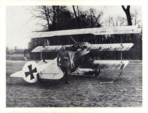 Fokker Dr.I and pilot Fritz Kempf