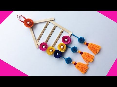 Diy Room Decor Wall Hanging Popsicle Stick Or Ice Cream Stick