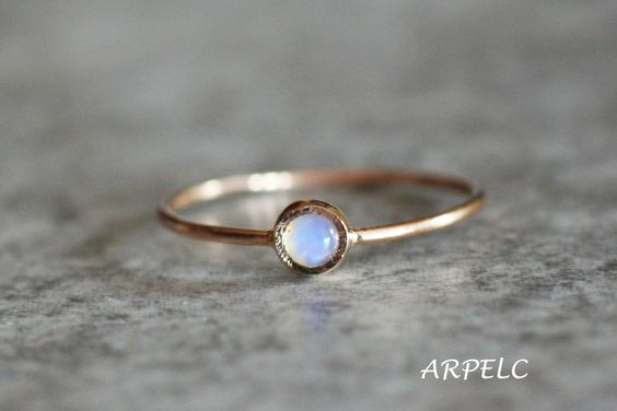Gold Rings – Fire Opal Ring, 14k Gold Ring, October Birthstone – a unique product by arpelc via en.DaWanda.com
