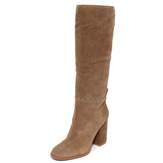 Tory Burch Contraire Boots ($525) ❤ liked on Polyvore featuring shoes, boots, ankle booties, river rock, chunky ankle booties, chunky-heel boots, tory burch booties, leather boots and leather ankle booties