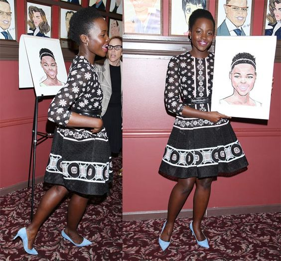 Lupita Nyong'o at the unveiling of her new portrait at Sardi's famous theatre district eatery in New York on May 20, 2016