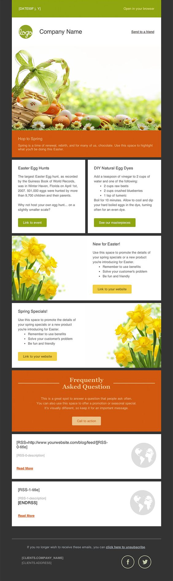 Newsletter Templates, Free Email Templates   CakeMail.com