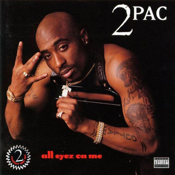 2pacs best selling multi million double CD cover..All Eyez On Me.: