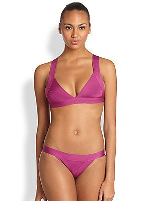 Herve Leger Two-Piece Cross-Back Bikini--runs small ! esp in the bottoms !!