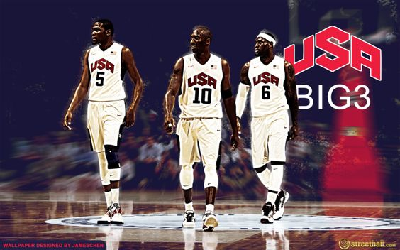 USA Basketball Olympic Wallpaper of Kevin Durant, LeBron ...
