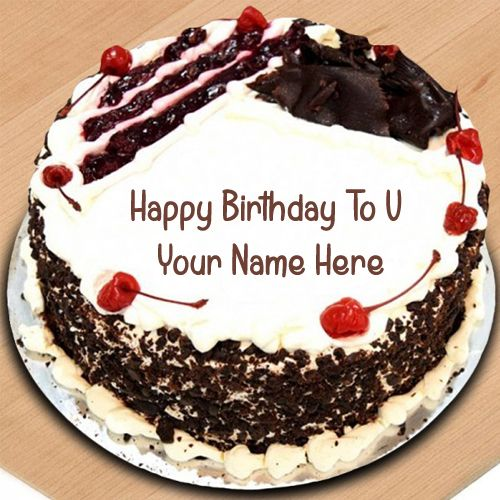 Fine Truffle Chocolate Cream Birthday Cake Wishes Name Write Pictures Funny Birthday Cards Online Hetedamsfinfo