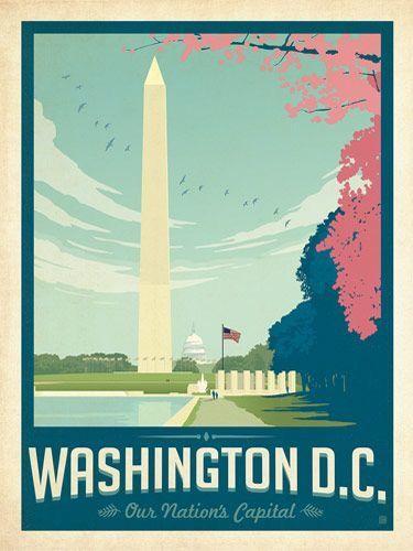 washington dc travel posters vintage