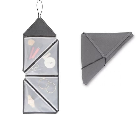 DESCRIPTION It is inspired by a familiar way to fold paper into triangles. The…