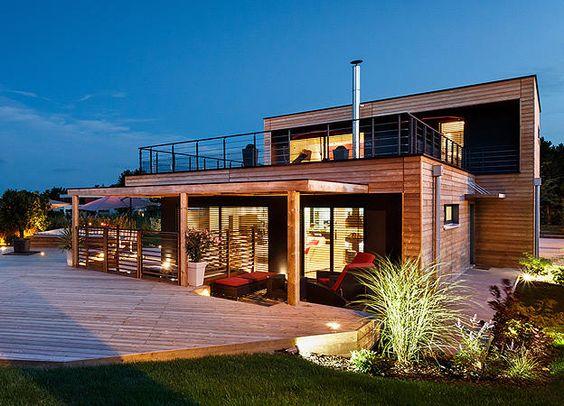 Booa constructeur maisons ossature bois prix direct fabricant maison bi - Maison a ossature metallique prix ...