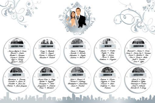Plan de tables de mariage originaux d'après votre thème de mariage ou les couleurs de votre décoration : ex : voyage panneau aéroport - princesse livre...