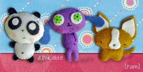 Customer Image Gallery for Felties: How to Make 18 Cute and Fuzzy Friends from Felt
