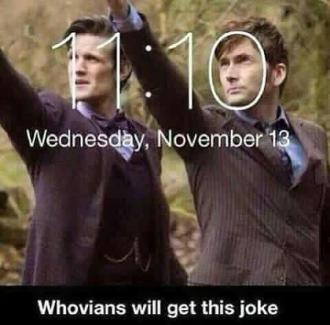 and under the number 11, there's Wednesday • only Whovians will get this joke • 11:10 // Doctor Who