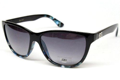 ($9.95) Dg Eyewear Vintage Wayfarer Sunglasses Womens Black - Blue D751 From DG Eyewear