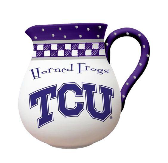 Ceramic Team Pitcher - TCU | College Fans | Texas Christian | Gameday Vehicle…