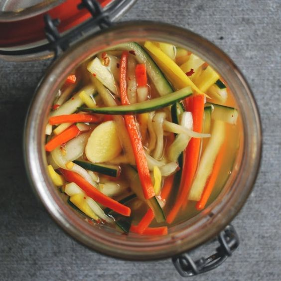 quick  simple vietnamese pickled daikon, cucumber  carrot