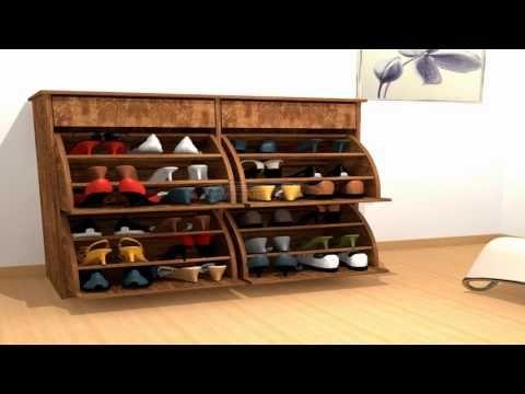 Zapateros En Melamina Disenos Modernos Shoemakers In Melamina Modern Designs Yout Zapateras De Madera Muebles De Madera Modernos Como Hacer Un Zapatero