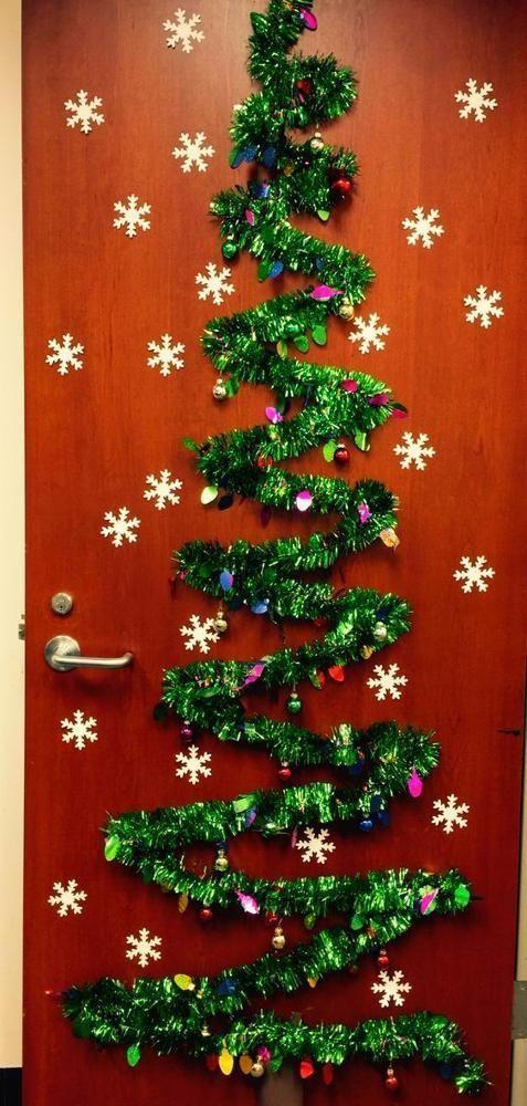 Diy Christmas Decorations Doordecoratingcontest Christmas Decoration In 2020 Christmas Door Decorating Contest Christmas Door Decorations Office Christmas Decorations