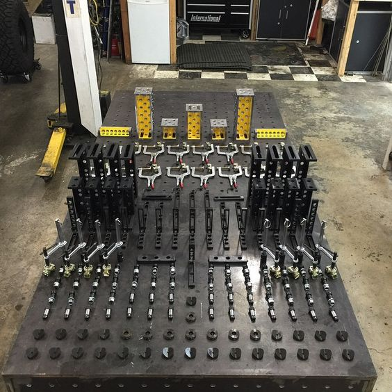 Custom Welding Table With Strong Hand Clamps Welding